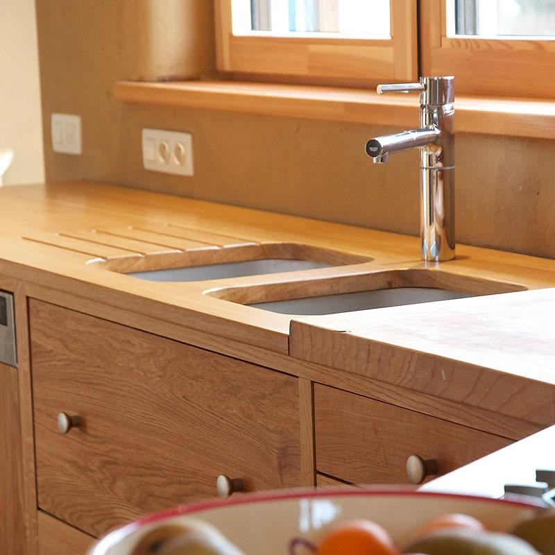 cuisine reflets en ch ne 100 massif le bois d 39 antan. Black Bedroom Furniture Sets. Home Design Ideas