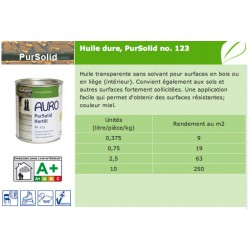 Huile dure Pursolid 123