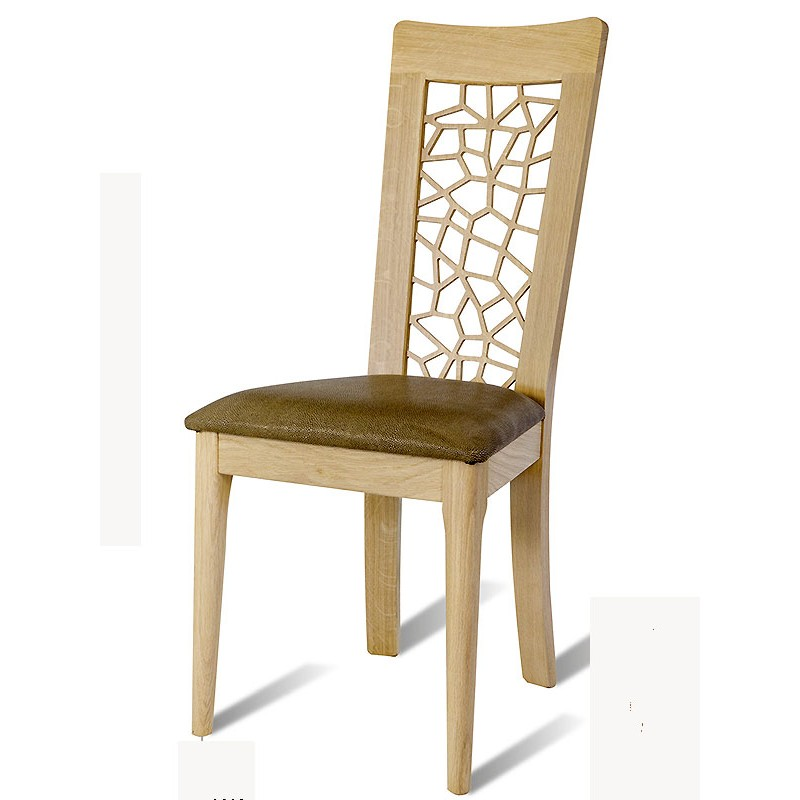 Chaise en chene brut arum le bois d 39 antan for Chaise en chene