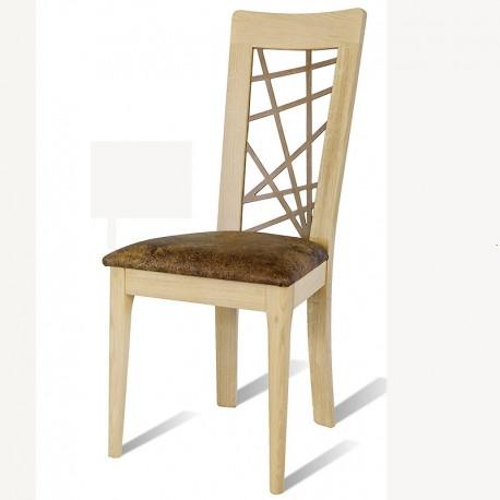 chaise en ch ne brut arum dos en bois chantourn le bois d 39 antan. Black Bedroom Furniture Sets. Home Design Ideas