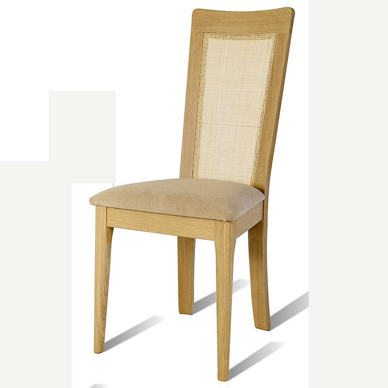 chaise en chene brut arum dos cann le bois d 39 antan. Black Bedroom Furniture Sets. Home Design Ideas