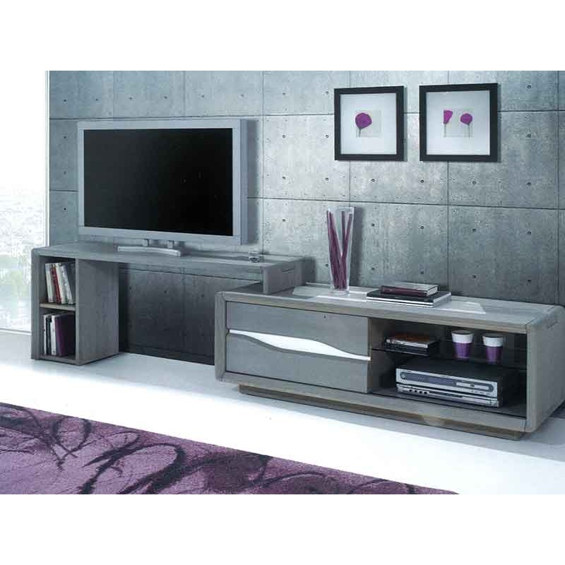 support tv mobile pour meuble tv campanule le bois d 39 antan. Black Bedroom Furniture Sets. Home Design Ideas