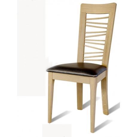 chaise en chene brut arum dos bois chantourn le bois d 39 antan. Black Bedroom Furniture Sets. Home Design Ideas