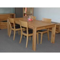 Table rectangulaire Campanule 190 x 100 cm dessus chêne