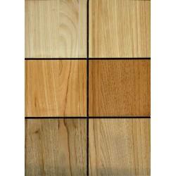 Échantillon des 5 bois proposés