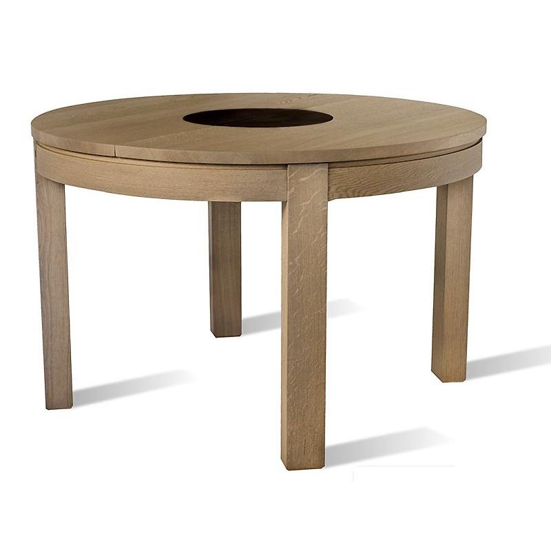 Table Ronde 110 Cm.Table Tapana Ronde 110 Cm Le Bois D Antan